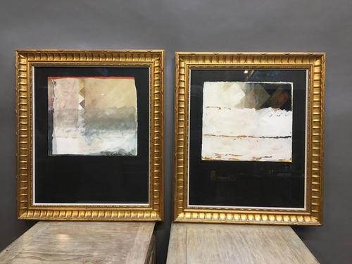 Pair of Mid 20th Century Abstract Studies, Signed (1 of 8)