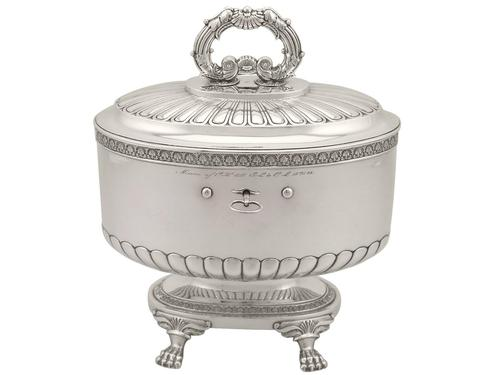 Sterling Silver Locking Biscuit Box - Antique 1845 (1 of 15)
