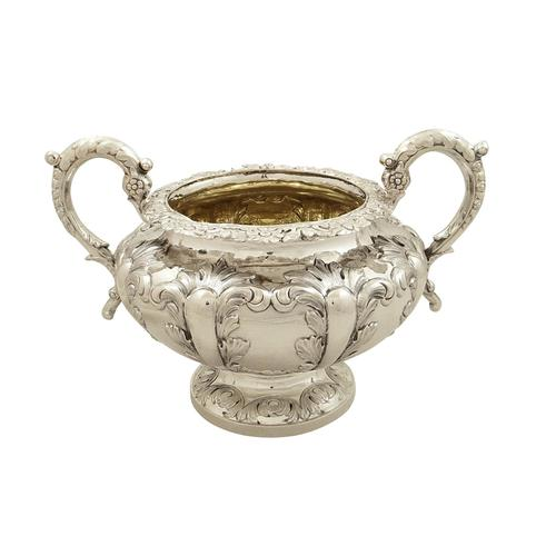 Antique Victorian Sterling Silver 2 Handle Bowl 1844 (1 of 9)