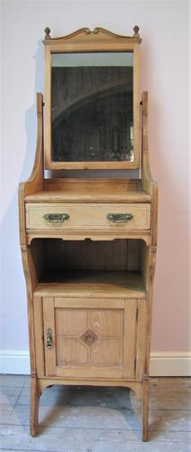 Antique Pine Slim Vanity Unit (1 of 7)