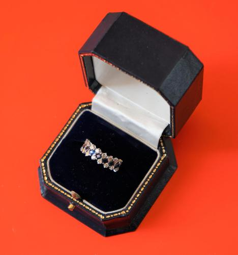 18ct White Gold Diamond & Sapphire Multi Stone Engagement - Eternity Ring- Ideal Gift / Present (1 of 9)