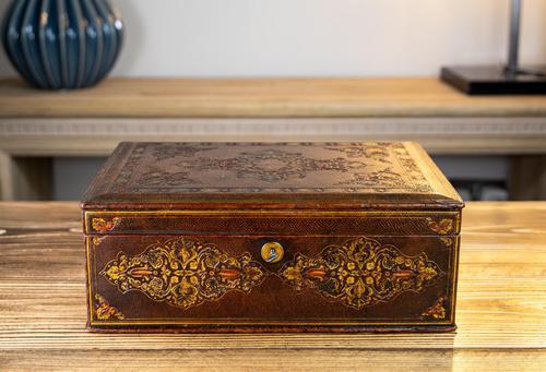 Decorative Leather Box 1870 (1 of 10)