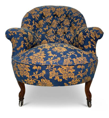 Small Napoleon III Buttoned Tub Chair (1 of 6)