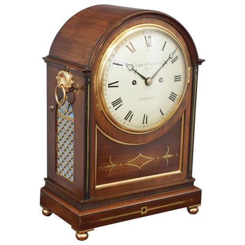 George IV Mantel Clock by Charles Valogne, London (1 of 10)