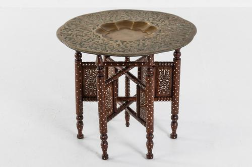 Moroccan Brass Tray Table (1 of 6)