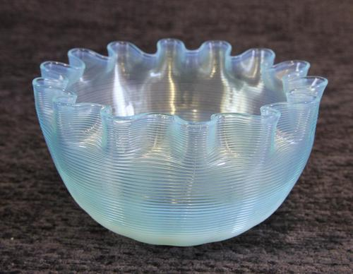 Antique Vaseline Stevens Williams Glass Finger Bowl (1 of 5)