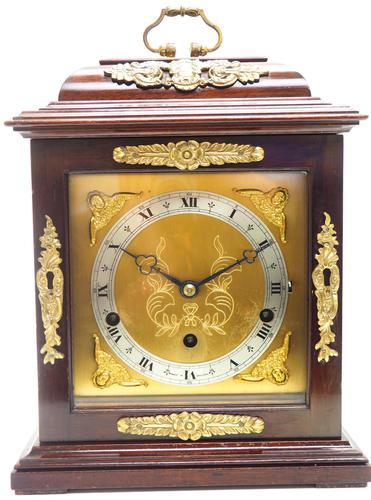 Superb Mahogany Caddy Top Mantel Clock Dual Musical Bracket Clock by Elliott (1 of 9)