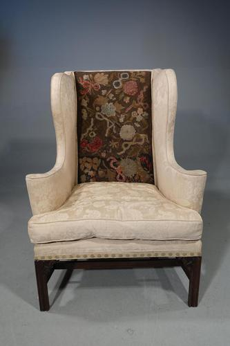 George III Period Mahogany Framed Wing Chair (1 of 5)