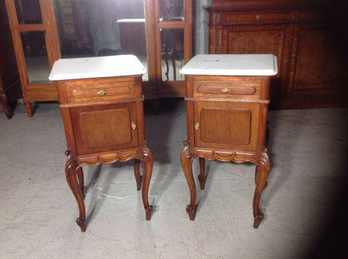 Pair of French Mahogany Bedside Cabinets (1 of 8)