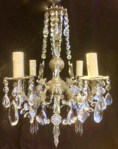 Four Light French Antique Chandelier (1 of 5)