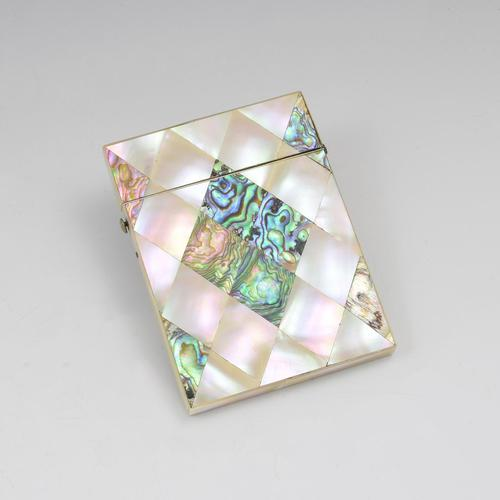 Victorian Mother of Pearl & Abalone Visiting Card Case (1 of 10)
