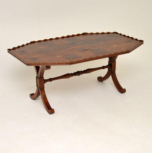Antique Yew Wood Oyster Veneer Coffee Table (1 of 7)