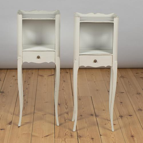 Pair of French Painted Bedside Cabinets Tables (1 of 5)