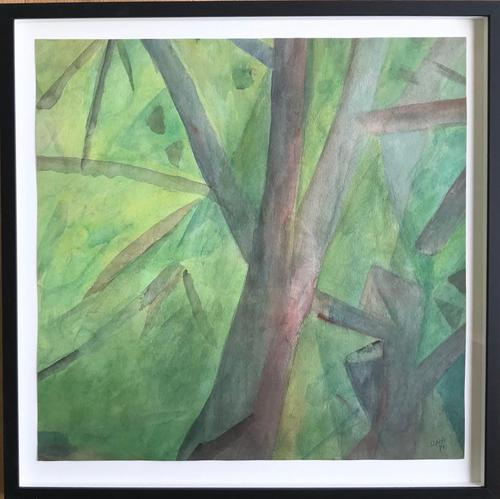 Original Watercolour 'Into the Forest' by Doreen Heaton Potworowski - Initialled 1971 - Framed (1 of 2)