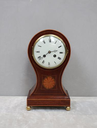 French Belle Epoque Mahogany Mantel Clock by Samuel Marti (1 of 8)
