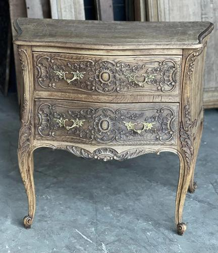 Stylish French Bleached Oak Commode Chest (1 of 20)