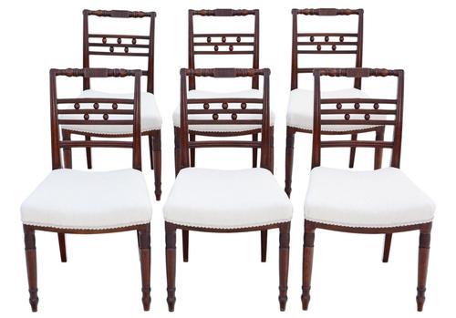 Set of 6 Georgian Mahogany Dining Chairs c.1820 (1 of 7)