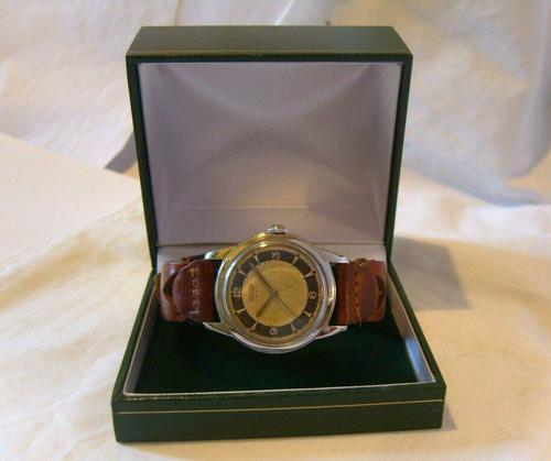 Vintage Tissot (omega) Jubileum Wrist Watch 1953 16 Jewel Stainless Steel Case Fwo (1 of 12)