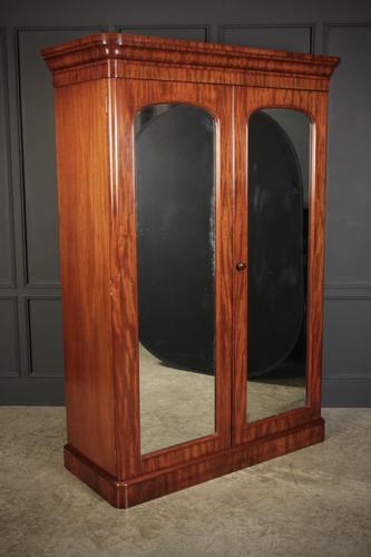 Victorian Mahogany Double Wardrobe (1 of 12)