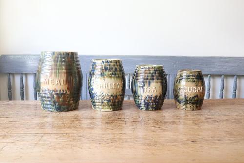 Scottish Pottery Slipware Barrel Storage Jars x4 (1 of 35)