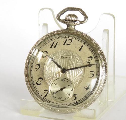 1924 Elgin White Gold Filled Pocket Watch (1 of 3)