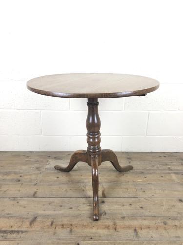 19th Century Oak Circular Tilt Top Tripod Table (1 of 11)