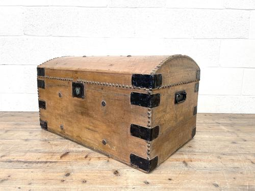 Rustic Antique Pine Dome Top Trunk (1 of 9)