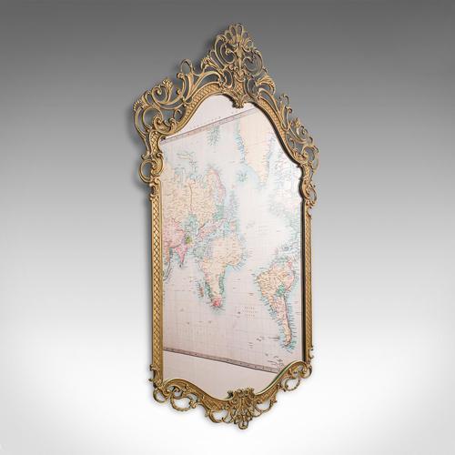 Large Antique Wall Mirror, Italian, Gilt Metal, Hall, Bedroom, Rococo, Victorian (1 of 12)