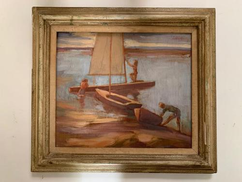 Lubbock - Summer Boating - Oil on Board (1 of 2)
