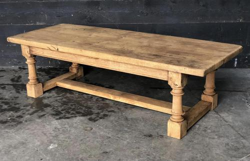 Antique Bleached Oak Coffee Table (1 of 9)
