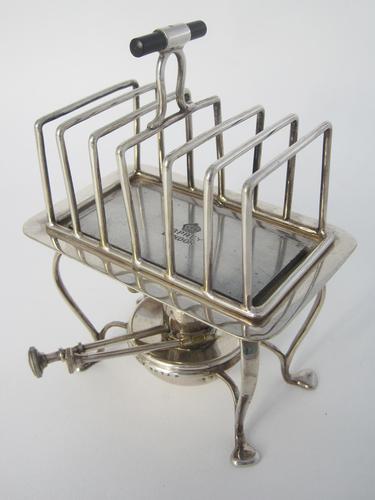 Unusual Asprey & Co Silver Plated Rectangular Toast Rack (1 of 5)