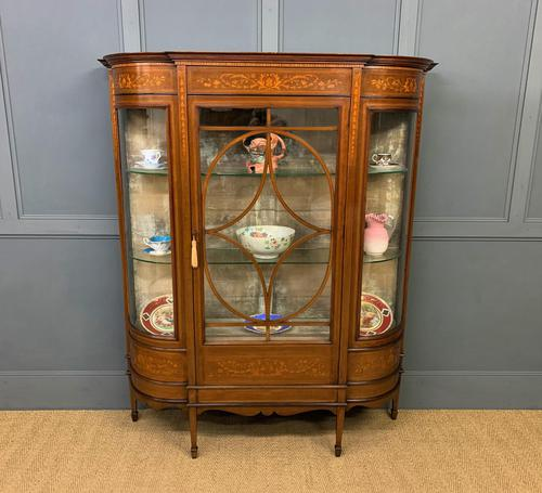 Maple & Co Inlaid Mahogany Display Cabinet (1 of 13)