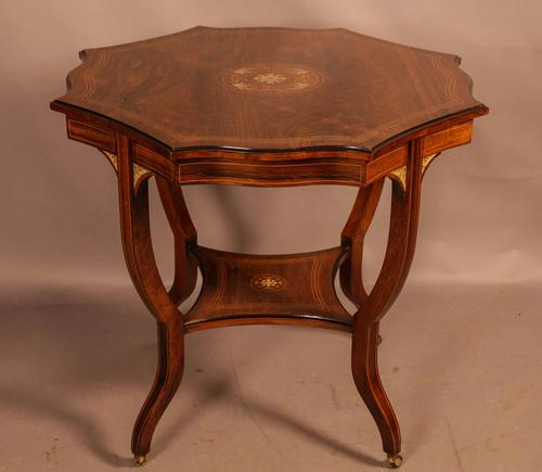 Fine Quality Rosewood Occasional Table c.1890 (1 of 6)