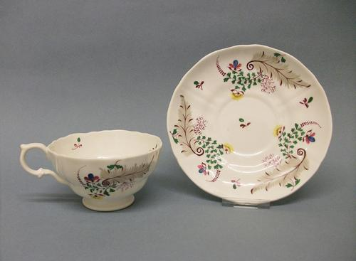Staffordshire Tea Cup & Saucer c.1835 (1 of 8)