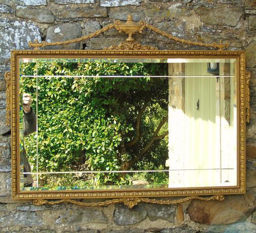 Good Antique Adam's Style Gilt Mirror Bevelled (1 of 5)