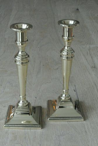 Pair of Quality 18th Century Style Brass Candlestick Pearson Page c.1910 (1 of 7)
