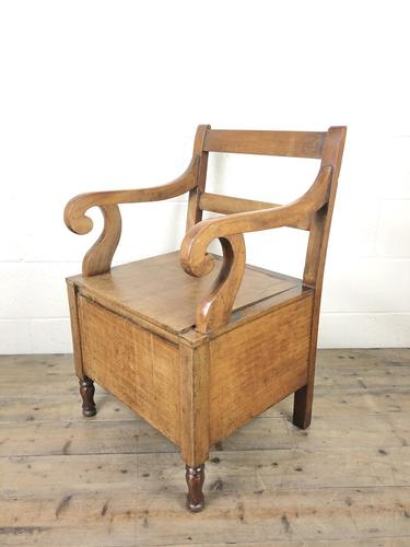19th Century Oak Armchair Commode (1 of 10)