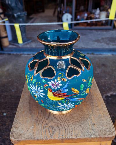 Large Vase by H.Bequet Quaregnon Belguim (1 of 4)