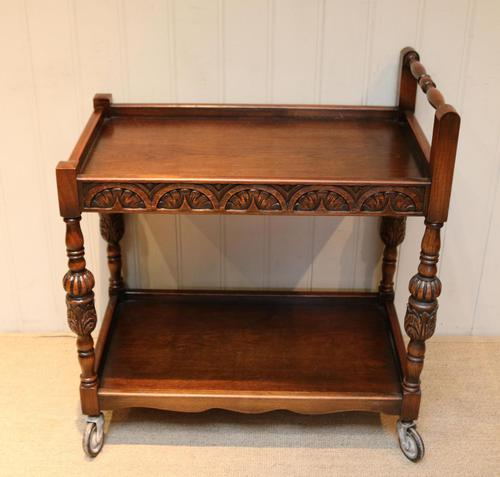Carved Oak Trolley (1 of 10)