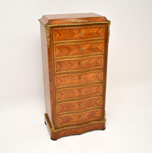 Antique French Inlaid Kingwood Secretaire Bureau Chest (1 of 11)