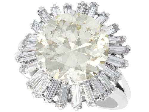 8.24ct Diamond & Platinum Ring by Boucheron - Vintage c.1950 (1 of 13)