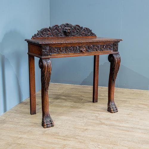 Victorian Carved Console Table (1 of 6)