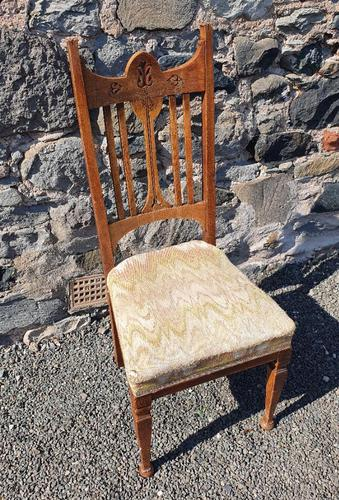 Glasgow School Oak Single Hall Chair (1 of 5)