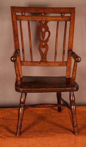 Rare Childs Mendlesham Chair in Yew Wood (1 of 8)