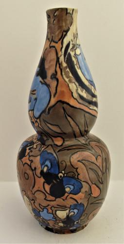 Frederick Rhead, Bursley Ware Amstel Gourd Vase for Wood & Sons Ltd c.1923 (1 of 7)