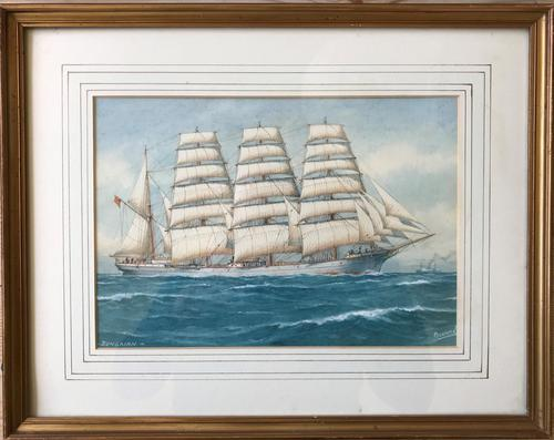 Watercolour 'The Barque Begairn' by Pelham Jones (1 of 1)