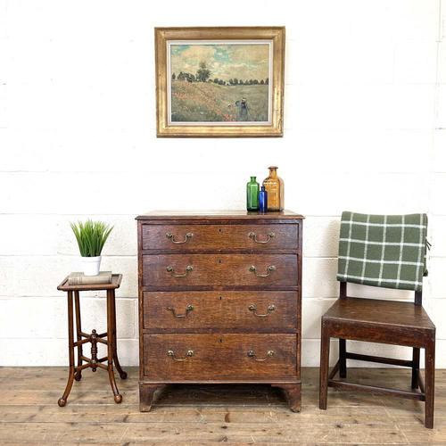 Georgian Oak Small Chest of Drawers (1 of 10)