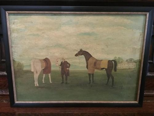 Oil on Canvas, Race Horse (1 of 4)