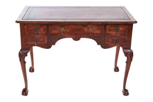 Georgian Revival Walnut 5 Drawer Writing Table c.1920 (1 of 10)