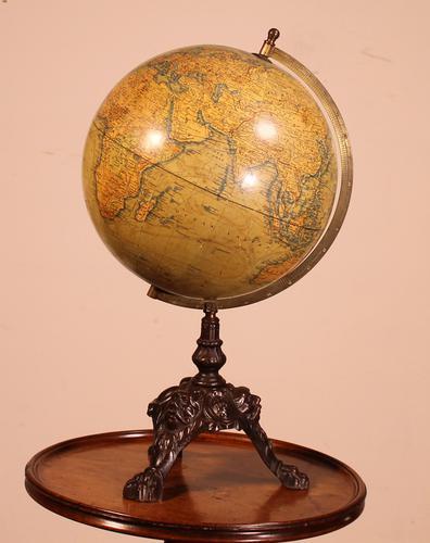 Terrestial Globe From J.lebègue & Cie Circa 1890 From Paris (1 of 12)